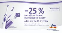 -25% na celý sortiment starostlivosti o zuby