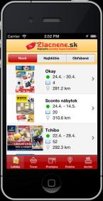 Mobilná aplikácia Zlacnene.sk