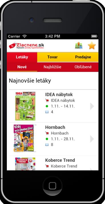 Mobilná verzia Zlacnene.sk